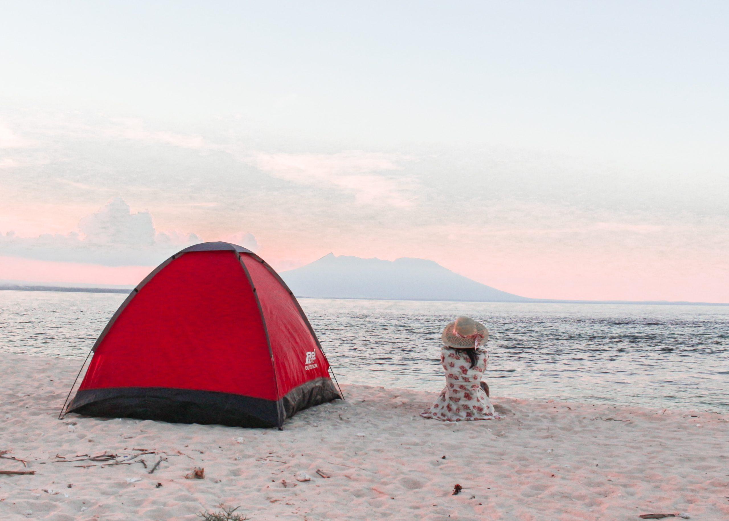 嫁が抱く理想のキャンプは海キャンプ!